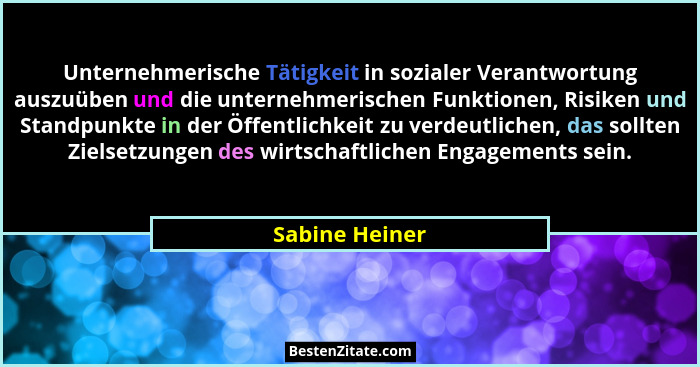 Unternehmerische Tätigkeit in sozialer Verantwortung auszuüben und die unternehmerischen Funktionen, Risiken und Standpunkte in der Öf... - Sabine Heiner
